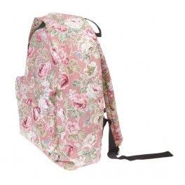 Vintage Floral Backpack - Dusky Pink £19.99
