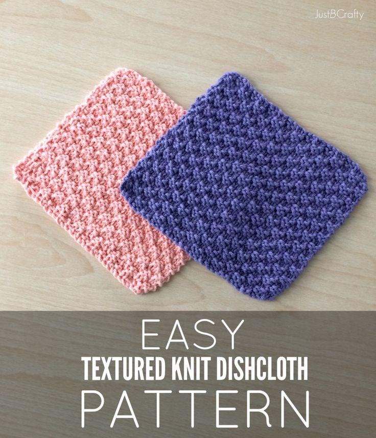 Knitting Dishcloths Free Patterns : New free pattern textured knit dishcloth by