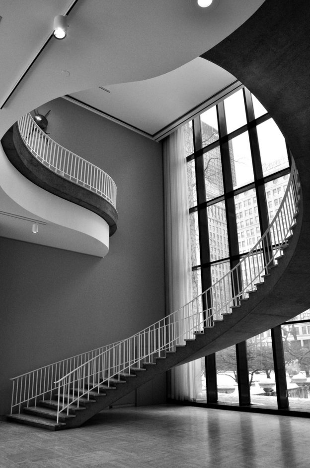 Spiral Staircase At The Art Institute, Photo By James Watkins
