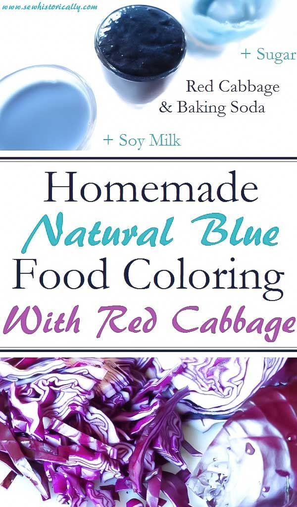 Homemade Natural Blue Food Coloring With Red Cabbage | Blue ...