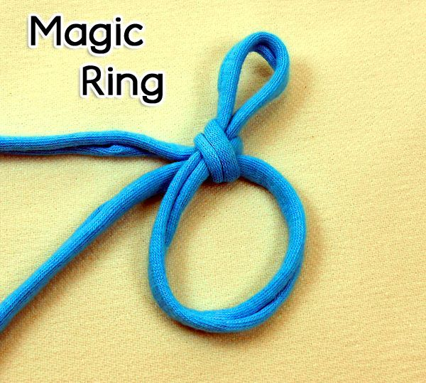 Crochet Stitches Magic Loop : Magic Ring video tutorial. (adjustable ring, magic circle, magic loop ...