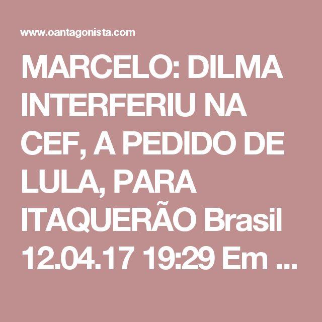 """MARCELO: DILMA INTERFERIU NA CEF, A PEDIDO DE LULA, PARA ITAQUERÃO  Brasil 12.04.17 19:29 Em sua delação, Marcelo Odebrecht revelou como Lula pediu a Emílio Odebrecht que """"viabilizasse a construção de um estádio próprio para o Corinthians, seu time do coração"""". Ele conta que o processo de estruturação do financiamento para a obra ocorreu de maneira """"muito informal, com compromissos sendo assumidos pelos governados Federal, Estadual e Municipal"""". Marcelo diz que o tema foi inicialmente…"""
