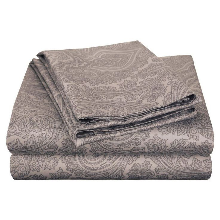 Superior Cotton Rich 600TC Italian Paisley Sheet Set Dark Grey - CR600FLSH IPDG
