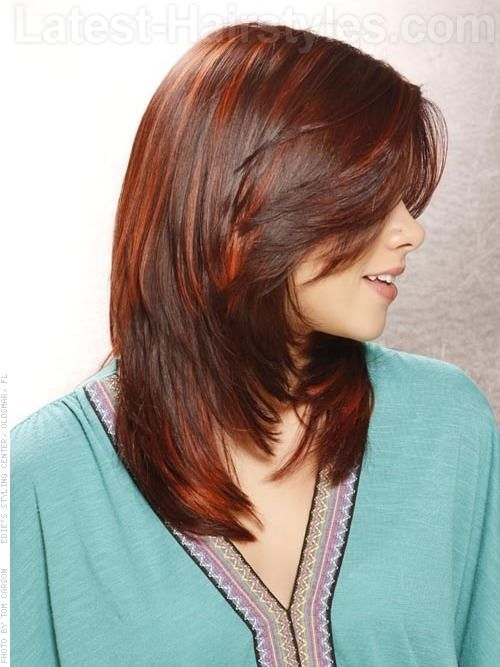 Chocolate Chic Smooth Style with Highlights Side View
