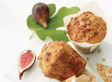 Muffins au miel, aux figues et au yogourt avec noix de Grenoble  recette   Plaisirs laitiers