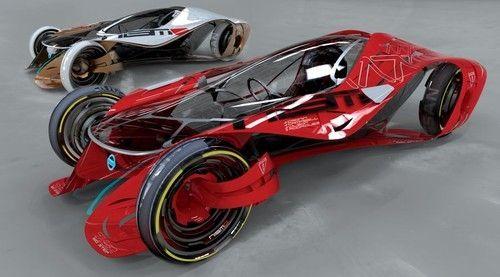 Nissan iV, future automotive, fantastic, vehicle, car, concept, futuristic, auto, futurism, red, electric vehicle, nissan, sci-fi by FuturisticNews.com