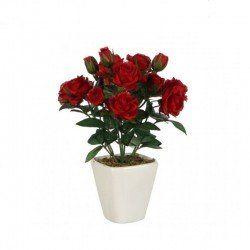 Trandafiri artificiali in ghiveci H22