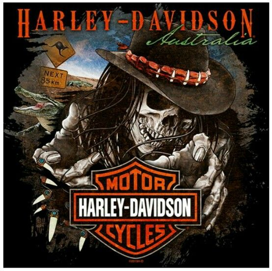 Cool Harley-Davidson logo #harleys #skeletons #bikers