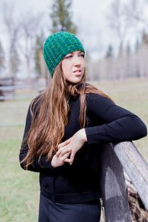 River Hat by Leslie Taylor. Knit with one skein of Mountain Colors River Twist. A great gender neutral hat!