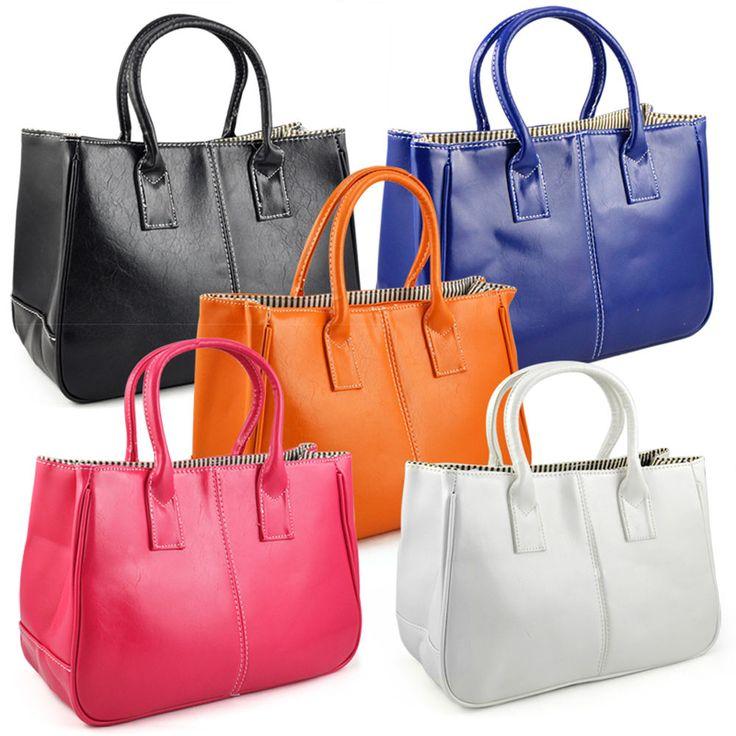 Women Ladies Girl PU Leather Satchels Tote Purse Bag Beatiful Handbag HY