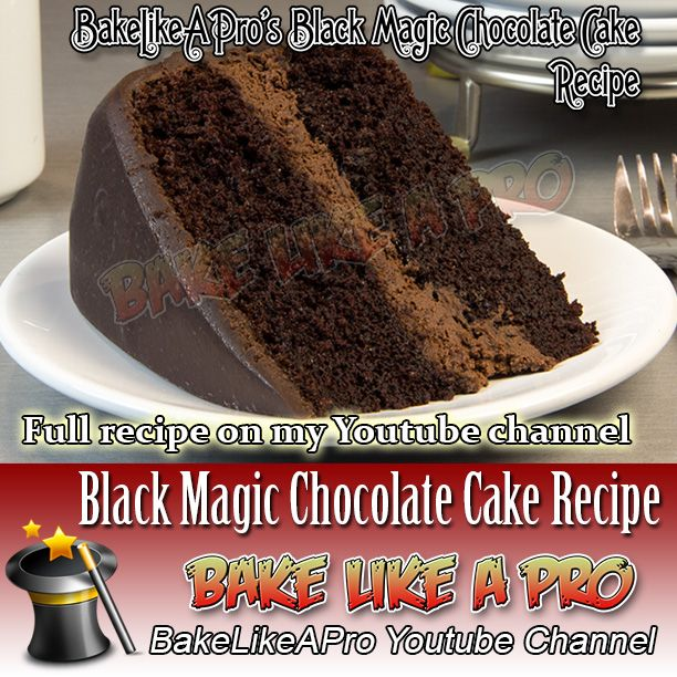 My Black Magic Chocolate Cake Recipe - click the link to see this video recipe on my Youtube channel