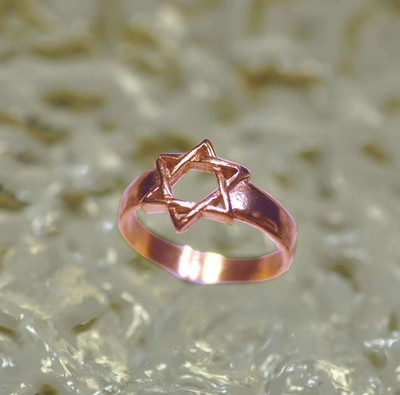 New Rose gold plated over sterling silver .925 Star of David ring JEWISH Jewelry | eBay