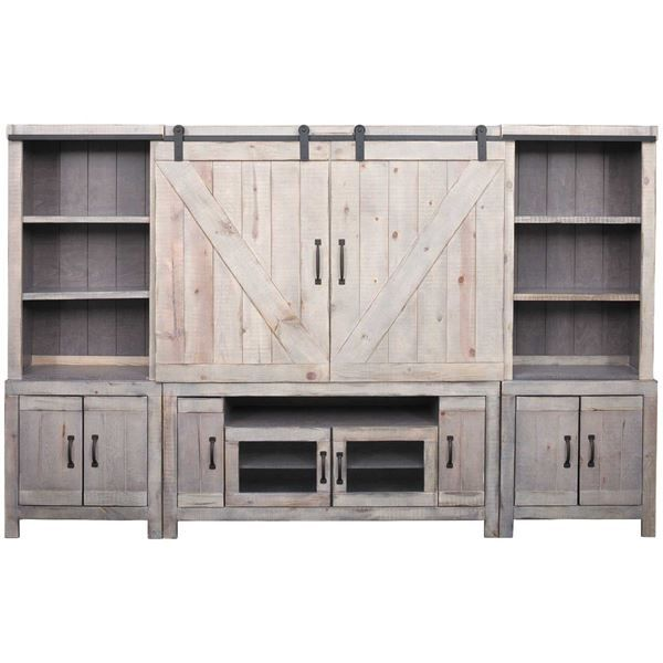 Bring Rustic Farmhouse Inspired Style To Your Home With The Devonshire Entertainment Center By Oak West Fu Entertainment Center Entertaining Entertaining Decor