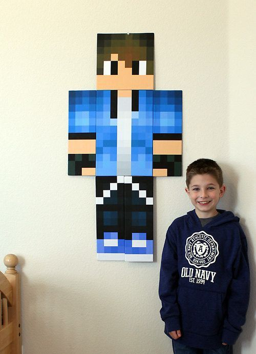 Buzzfeed article- 27 amazing Etsy finds for kids: Custom made Minecraft wall art.