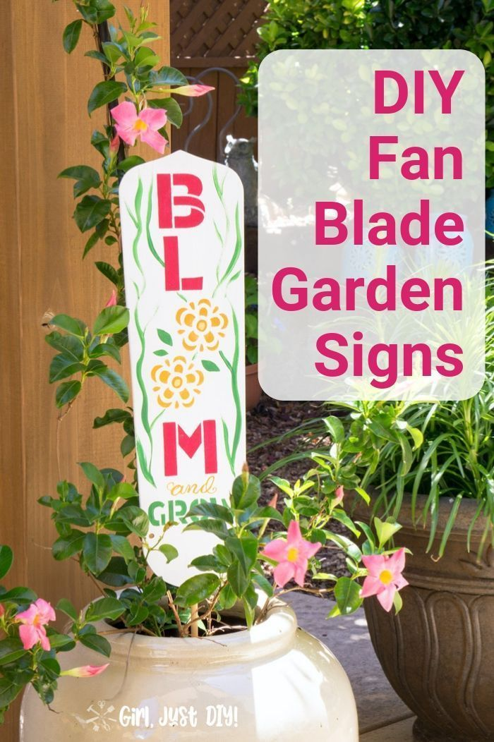 Diy Garden Signs From Fan Blades In 2020 With Images Garden Crafts Diy Diy Garden Projects Diy Garden