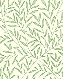 Tapet Lily Leaf Thyme från William Morris & Co