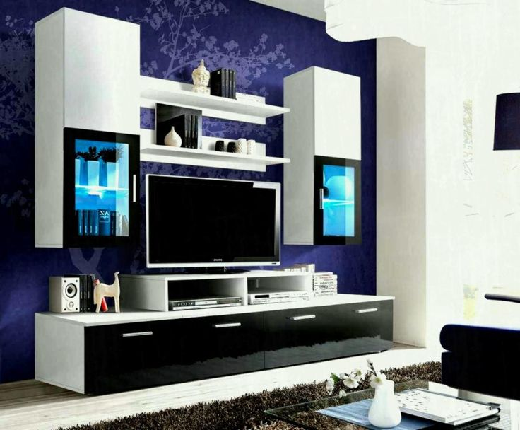 Wall showcase designs for living room indian style wooden for Pareti tv moderne