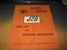 Ditch Witch Model J20 Ride On Trencher Parts Catalog & Owner Operator Manualriding trenchers apply now www.bncfin.com/apply