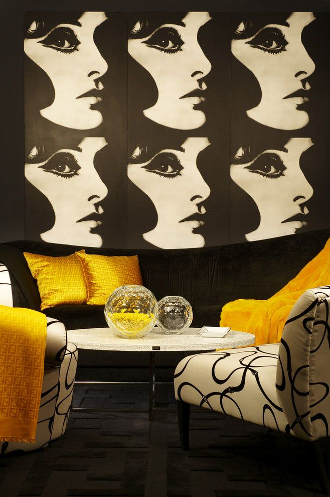 Signature Murdock Yellow - eclectic - living room - los angeles - Tracy Murdock Allied ASID