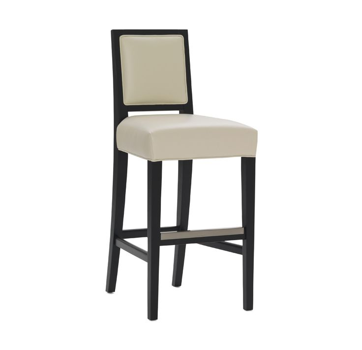 A sophisticated silhouette for a casual dining: our Brewster leather bar stool sports a modern exposed frame and kick plate in a cool nickel finish. #barstool #casualdining