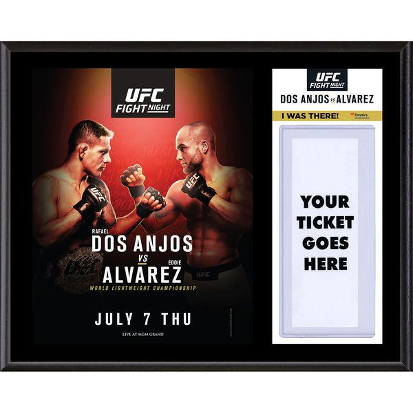 "Fanatics Authentic UFC Fight Night Rafael Dos Anjos vs. Eddie Alvarez Dueling ""I Was There"" 12"" x 15"" Sublimated Plaque - $39.99"