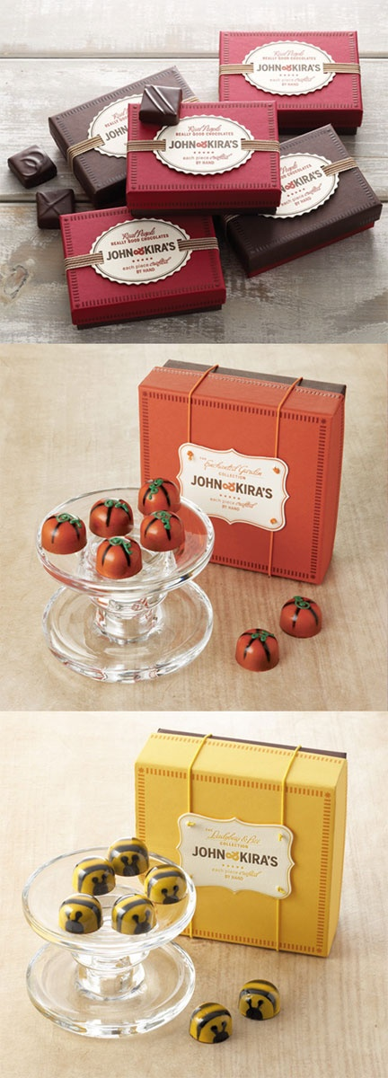 John & Kiras chocolates.  Great matching of the candies and the packaging. PD
