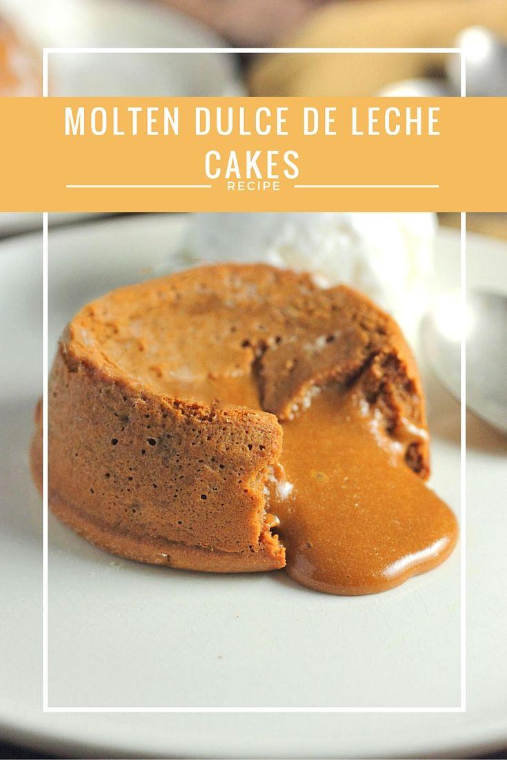 Molten lava Dulce de Leche Cakes that perfect and romantic!