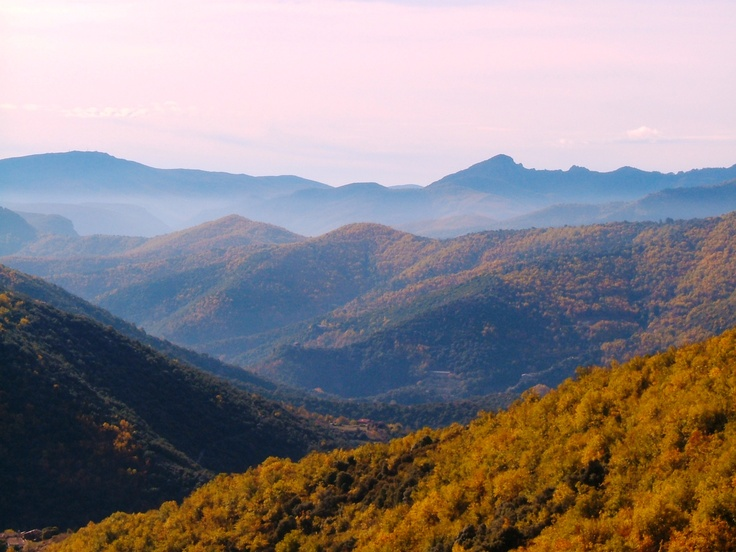 The Cevennes hills in the autumn