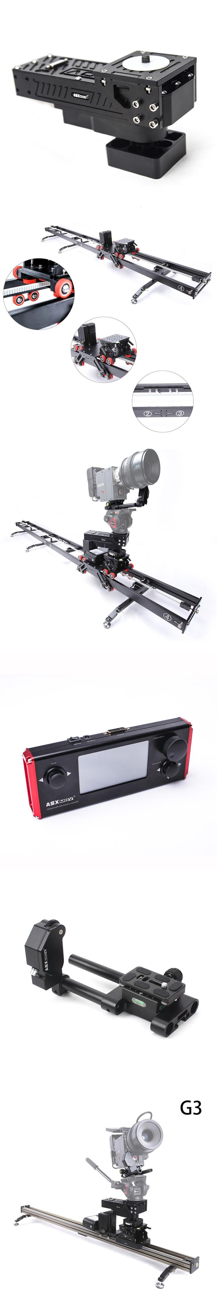 ASXMOV-G3 Allum Wired Controlled timelapse Photography motorized Video Slider high speed DSLR Camera slider for Sony for Canon