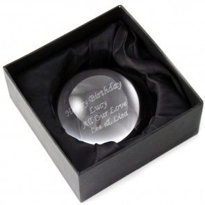 paper weight customised with your message