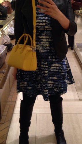 celine saffron yellow tie bag
