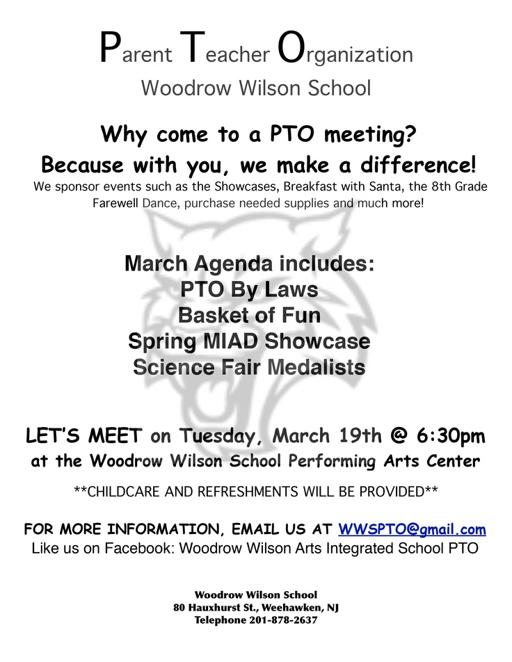 sample parent meeting flyer