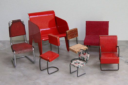 A collection of miniature chairs chairs mini pinterest for Sillas para maqueta