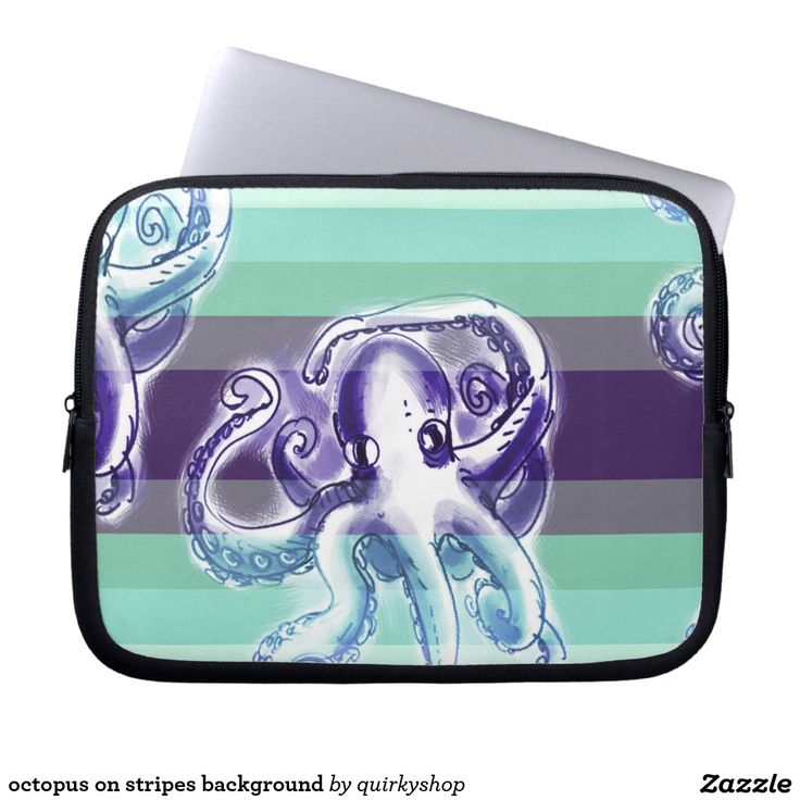 octopus on stripes background
