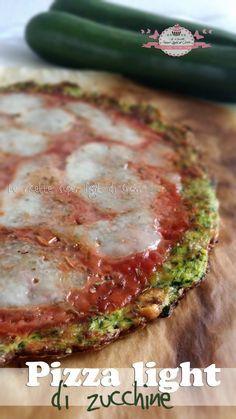 Pizza light di zucchine (393 calorie) | Le Ricette Super Light Di Giovi