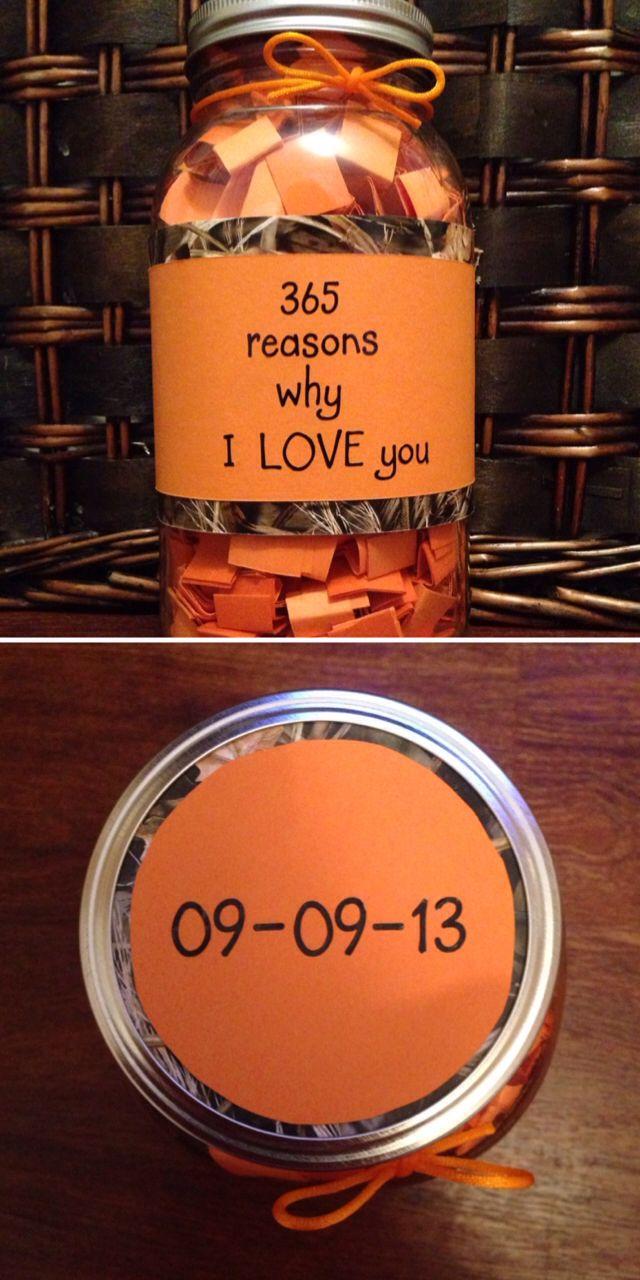 Camo 365 reasons why I love you mason jar