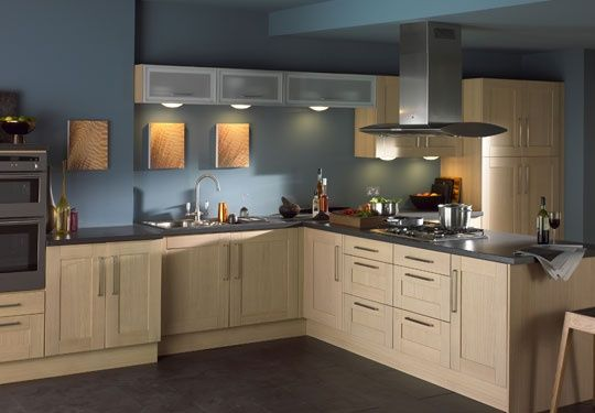 Blue is a great color choice if you need help managing for Colour choice for kitchen