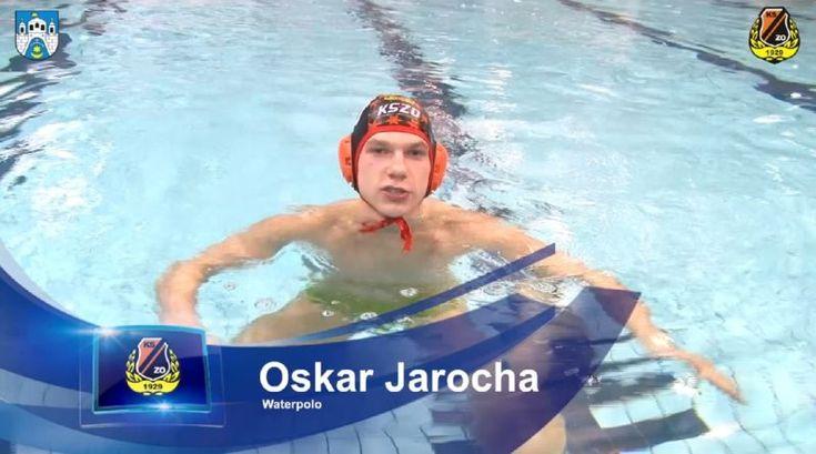 Oskar Jarocha, waterpolista KSZO, zaprasza na III Ostrowiecką Galę Sportu (wideo)