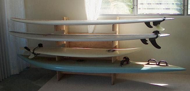 Quot Plyrack Quot Plywood Surfboard Rack Kevin Bartlett Crafts