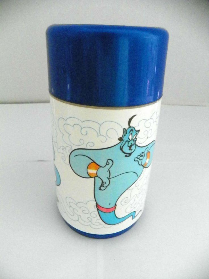 Vintage 1993 Disney Aladdin Genie Aladdin Thermos for Lunchbox-Robin Williams #AladdinThermos