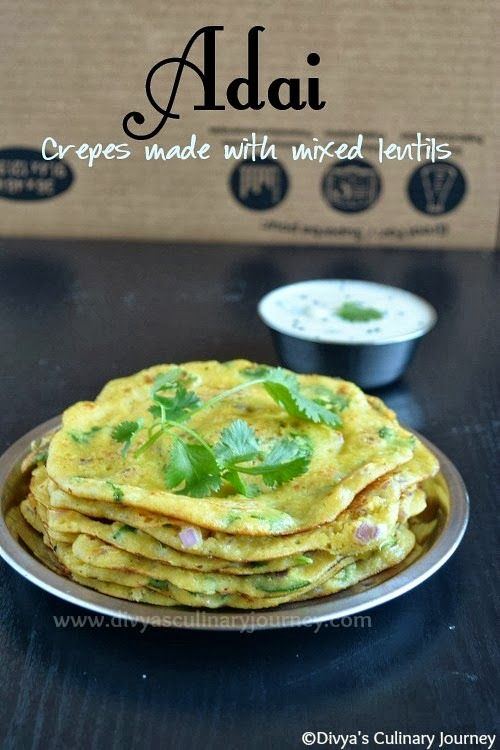 Adai- Crepes made with mixed lentils. Healthy and Vegan South Indian Breakfast.