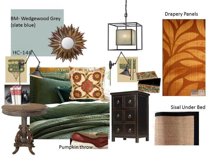 Mission Style Bedroom Design Plan