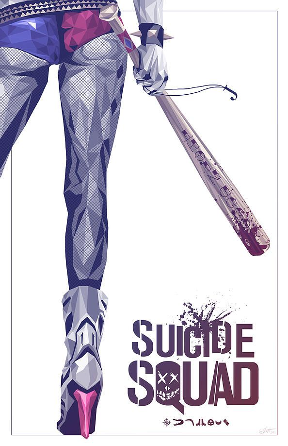 Suicide Squad - movie poster - Simon Delart