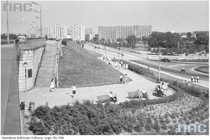 Warszawa, Praga 1962, widok z mostu Gdańskiego w kierunku ZOO