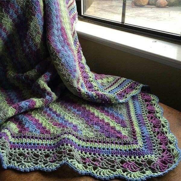 C2c With Border Crochet Blankets Pinterest