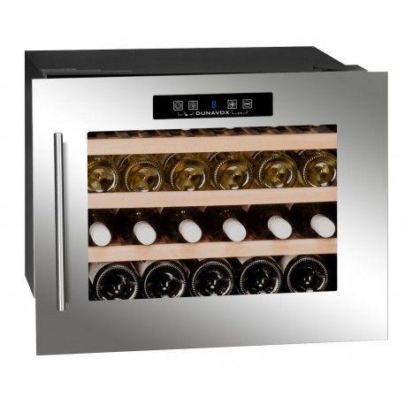 Racitor vinuri incorporabil DX-24.56BSK Dunavox DX-24.56BSK este un racitor de vinuriîncorporabil, cu o singură zonă de temperatură și sistem de răcire cu compresor din seria Dunavox Exclusive.