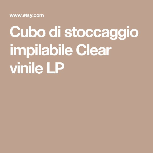 Cubo di stoccaggio impilabile  Clear  vinile LP