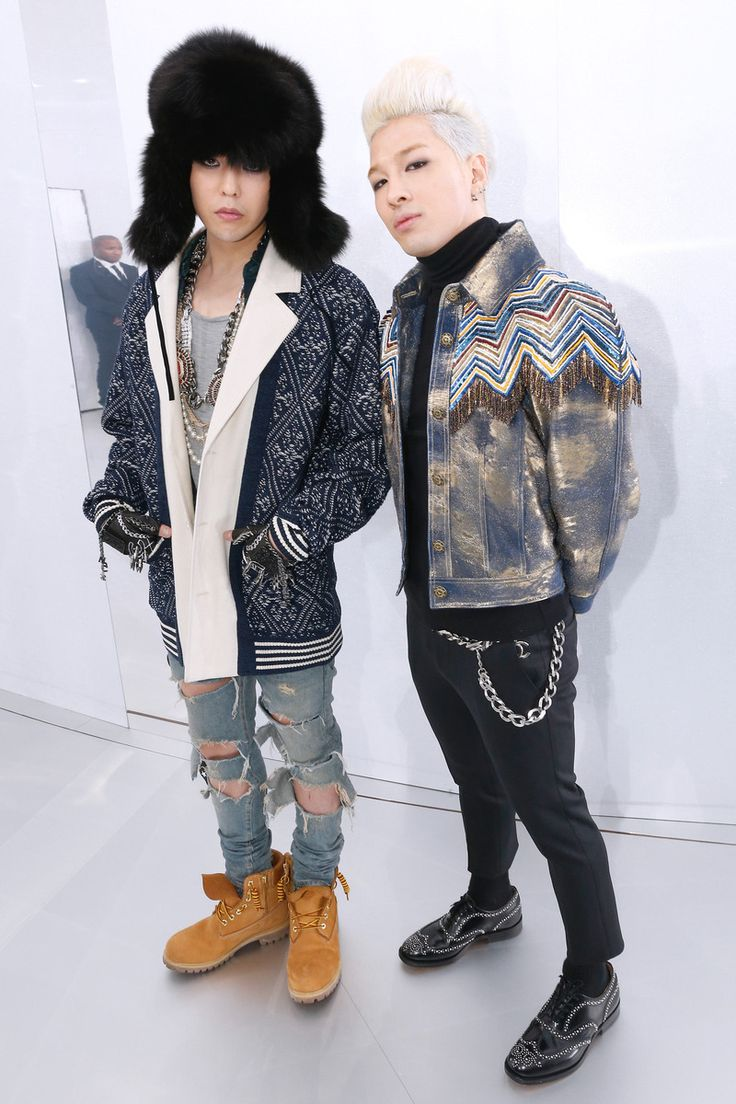 Taeyan and G-Dragon at Chanel Couture Spring 2014 in Paris