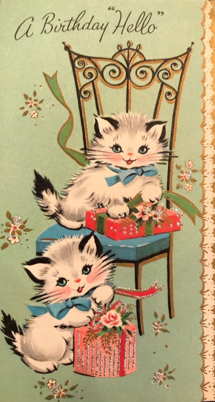 643 Best Art Vintage Cards Birthday And General Images On Pinterest
