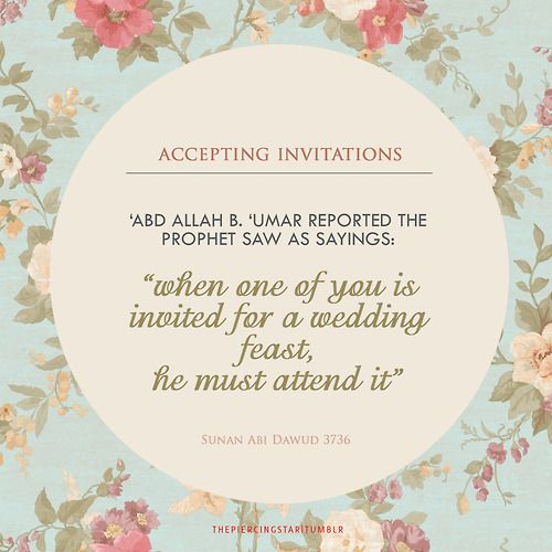Accepting invitation in islan islam pinterest islam for Wedding invitation acceptance quotes